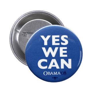 Podemos sí - botón pin redondo de 2 pulgadas