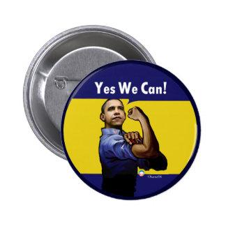 ¡Podemos sí! Botón Pin Redondo De 2 Pulgadas