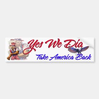 Podemos sí hicimos, retirar América, Barack Obama Pegatina Para Auto