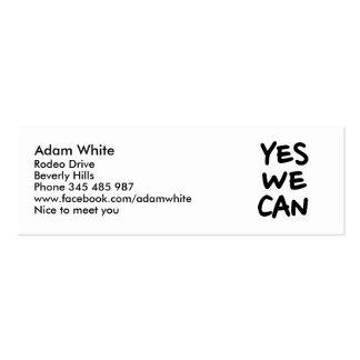Podemos sí tarjetas de negocios