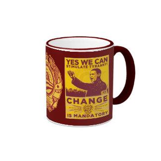 ¡Podemos sí! Taza de la parodia de Obama