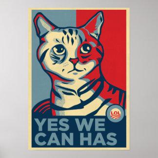 Podemos sí tenemos impresión de LOLCAT Poster