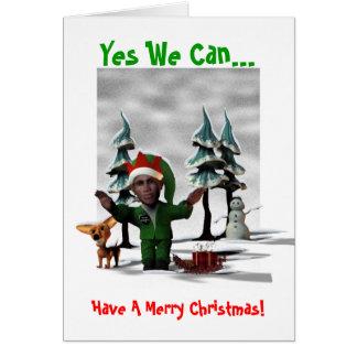 ¡Podemos sí… tener Felices Navidad Felicitación