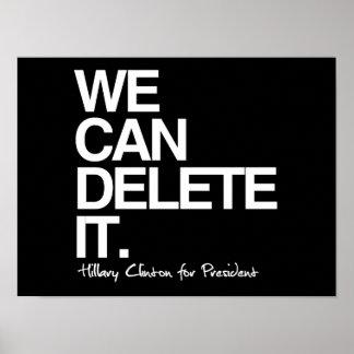 Podemos suprimirlo - Hillary para el presidente - Póster