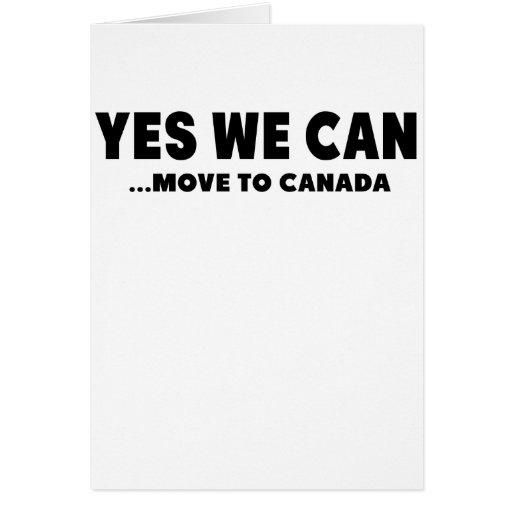 PODEMOS TRASLADARNOS SÍ A CANADÁ TARJETA