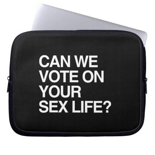 PODEMOS VOTAMOS SOBRE SU VIDA SEXUAL MANGA PORTÁTIL