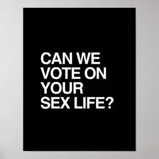 PODEMOS VOTAMOS SOBRE SU VIDA SEXUAL IMPRESIONES