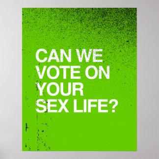 PODEMOS VOTAMOS SOBRE SU VIDA SEXUAL POSTERS