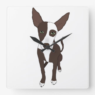 Podenco Little Stuart Square Wall Clock