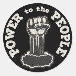 Poder a la gente etiqueta redonda