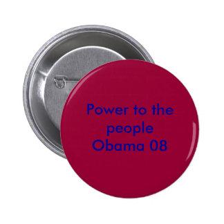 Poder a la gente Obama 08 Pin Redondo De 2 Pulgadas