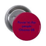 Poder a la gente Obama 08 Pins