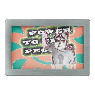 Poder a la gente - perro hebillas cinturon rectangulares