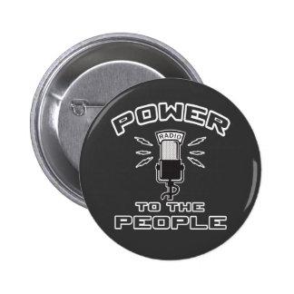 Poder a la gente pin redondo de 2 pulgadas