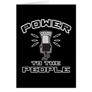 Poder a la gente tarjeta de felicitación