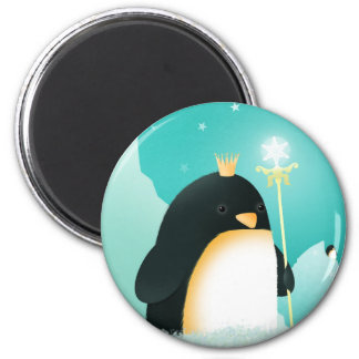 Poder a los pingüinos - imanes del emperador imán redondo 5 cm