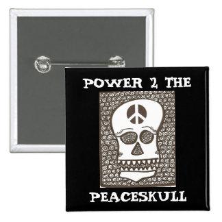 Poder al botón del peaceskull pins