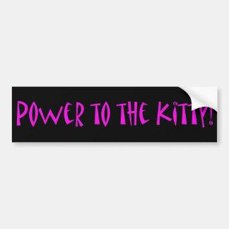 ¡Poder al gatito! Etiqueta De Parachoque