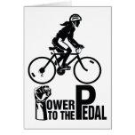 Poder al pedal tarjeta
