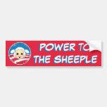 Poder al Sheeple (Obama) Etiqueta De Parachoque