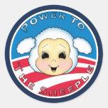 Poder al Sheeple (Obama) Etiqueta Redonda