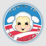 Poder al Sheeple (Obama) Pegatina Redonda