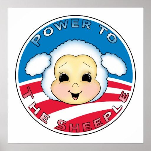 Poder al Sheeple (Obama) Posters