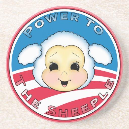 Poder al Sheeple Posavasos De Arenisca