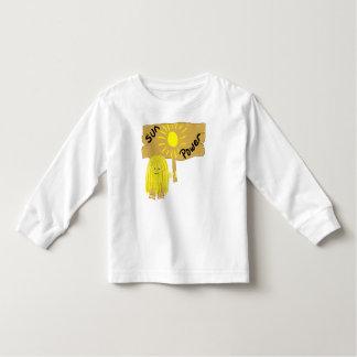 Poder amarillo de Sun T-shirt