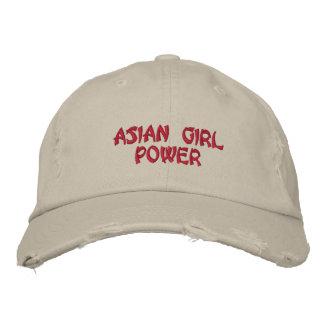 Poder asiático del chica gorra de beisbol bordada