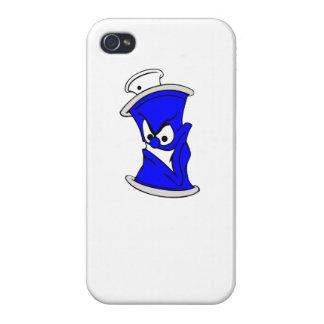 Poder azul de la pintura de aerosol del dibujo iPhone 4/4S fundas