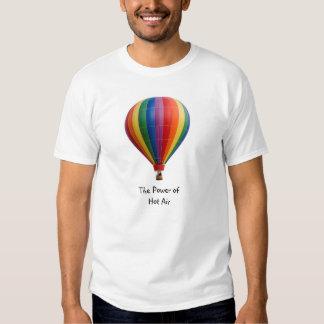 """""""Poder camiseta de aerostación del aire caliente"""" Playeras"""