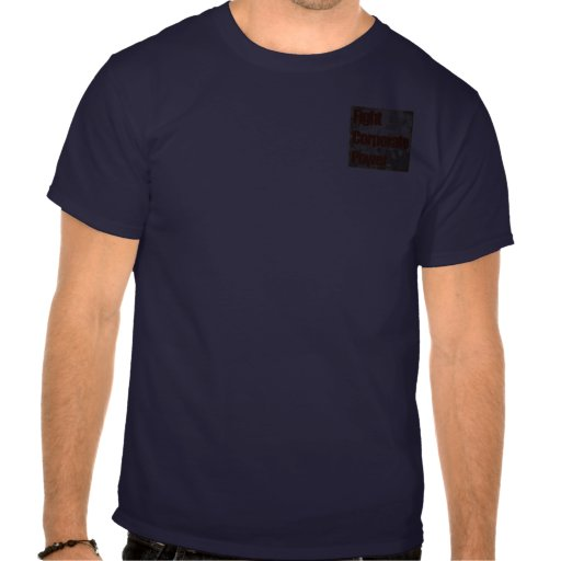 Poder corporativo de la lucha (ocupe Wall Street) Camiseta