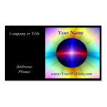 Poder cristalino de emisión tarjetas de visita