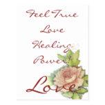 ¡Poder curativo del amor verdadero de la sensación Postales