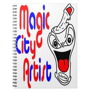 Poder de aerosol mágica de la pintada del artista libros de apuntes