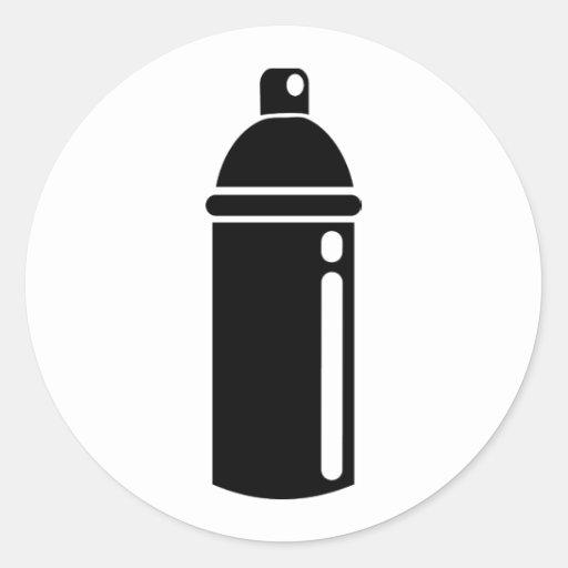 Poder de aerosol etiquetas redondas