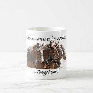 Poder de caballo belga taza de café
