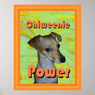 Poder de Chiweenie Impresiones