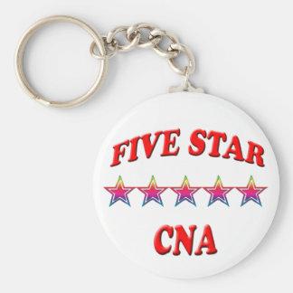 PODER de cinco estrellas Llaveros Personalizados