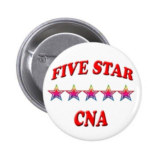 PODER de cinco estrellas Pin Redondo 5 Cm