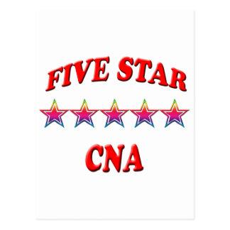 PODER de cinco estrellas Postal