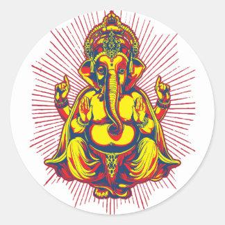 Poder de Ganesh Pegatina Redonda