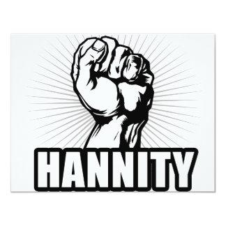 """Poder de Hannity Invitación 4.25"""" X 5.5"""""""