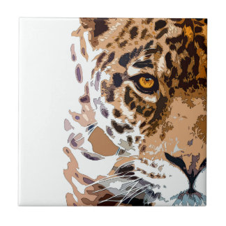 Poder de Jaguar Azulejo Cuadrado Pequeño