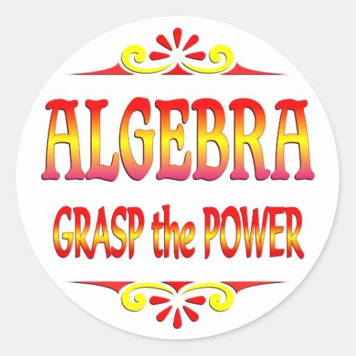 Poder de la álgebra pegatina redonda