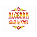 Poder de la álgebra tarjeta postal