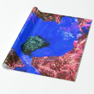 Poder de la amapola azul papel de regalo