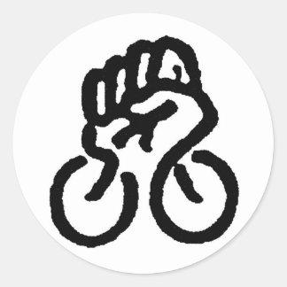 ¡Poder de la bicicleta! Pegatinas Redondas