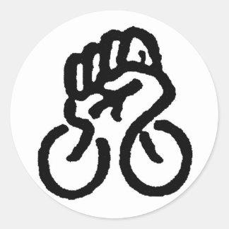 ¡Poder de la bicicleta! Pegatina Redonda